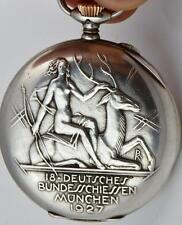 MUSEUM IWC Schaffhausen CHRONOMETER Silver Marksman Shooting Prize watch c1927