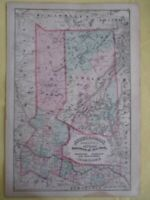 CALIFORNIA STATE COUNTY MAP GLOSSY POSTER PICTURE PHOTO PRINT name counties 5154