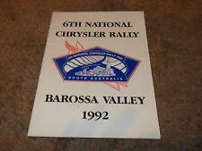 Chrysler program 6th national chrysler rally 1992