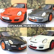 PERSONALISED PLATES 2010 Porsche 911 GT3 RS Toy Car Choice of 4 Colours Present