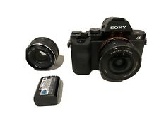 Sony  A7 24.3 MP Mirrorless Digital Camera with 16-50mm And Opteka Prime Lens