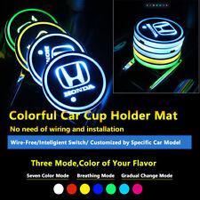 2pcs Colorful LED Coaster Atmosphere Car Parts Light Bulbs For Honda Neon Lights