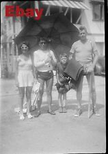 # yy Vintage Amateur Negative To Make Photo From- People at The Beach