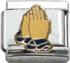 PRAY PRAYER PRAYING RELIGIOUS Enamel Italian Charm 9mm Link-1x RE046 Single Link