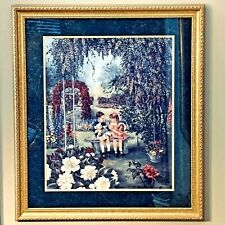"Vintage "" Secret Garden "" By Glynda Turley Painting Print Signed,numbered,framed"
