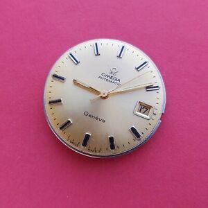 1969 Omega Geneve watch movement dial & hands 29mm mens Swiss @WatchAdoption