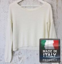 Regular Size Casual Solid Knit Tops for Women