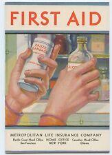 Vintage First Aid Metropolitan Life Insurance Advertising Booklet