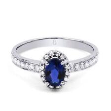 Anelli di lusso con gemme ovale fidanzamento Zaffiro