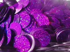 25g x 30mm Flat HOLOGRAM Disc Sequins: 9 Colours (approx. 110 pcs per 25g pack)