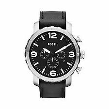 Stainless Steel Band Men's Adult Round Wristwatches
