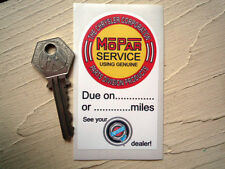 MOPAR CHRYSLER SERVICE STICKER