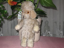 Antique Anker or Grisly Germany 1950s Mohair Standing Poodle Dog