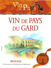 Etiquette de vin - Wine Label - Vin du Pays du Gard - Rouge