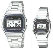 Casio A-158W+LA-670W (2 orologi) Orologio Uomo Donna Vintage Nuovo Crono Polso