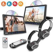 Pyle Dual Car Headrest Mount DVD Player System 9.4''' + Wireless Headphones