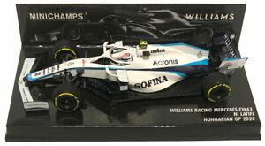 Minichamps Williams F1 FW43 #6 Hungarian GP 2020 - Nicholas Latifi 1/43 Scale