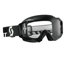 Maschera Scott Hustle Mx Goggles Black / Clear Nero Cross Enduro DH