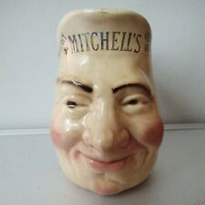 More details for rare french sarreguemines irish whisky face jug.mitchell & co belfast ltd c1890
