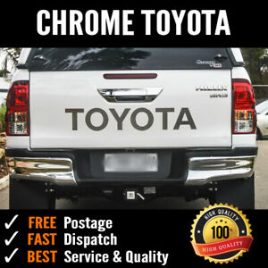Brushed Chrome TOYOTA tailgate sticker HILUX