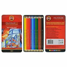 Pack of 12 Koh-I-Noor Polycolor Hexagonal Coloured Pencils With 3.8mm leads