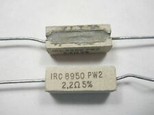 2.2 ohm 2 Watt 5% Wire Wound Power Resistor (NOS, New Old Stock)(QTY 10 ea)D510