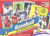 2019 Topps Archives Baseball EXCLUSIVE Factory Sealed Blaster Box-BONUS 2 Coins!
