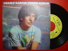 CHARLY GARCIA / PEDRO AZNAR hablando SPAIN PROMO 45 CBS 86ºonly1sideºSUI GENERIS