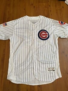 RARE Jake Arrieta Chicago Cubs Used Alternate Stars And Stripes Jersey Size 56