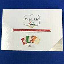 Project Life HOLIDAY EDITION Mini Kit Scrapbook Pocket Pages Cards 100 Pc.
