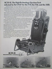 7/1977 PUB MCDONNELL DOUGLAS ACES II EJECTION SEAT SIEGE EJECTABLE USAF F-15 AD