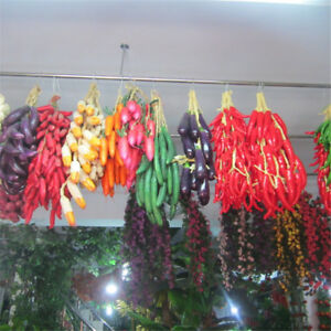5 Strand Artificial Fake Fruits Vegetables Plants Home Wall Door Hanging Decor