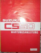 * SUZUKI CS50 CS 50  WERKSTATTHANDBUCH Wartungsanleitung 7/1983