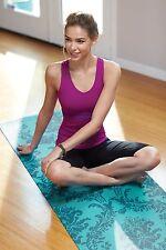 "Gaiam Yoga Mat NEW Neo-Baroque Print Non Slip 68""x24"" 3mm Durable Home Meditate"