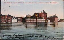 RUSSIA 1908 PC Postcard Moscow - Winterthur CH Hochwasser Flood View River