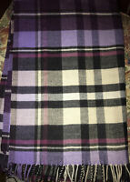 $79, new Gap XL Scarf / wrap One Size, Purple, Lilac, White Plaid, soft.big