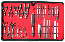 MANICURE AND PEDICURE new30 PCS FULL RANGE GERMAN STAINLESS STEEL TOOL SET/KIT