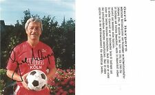 Autogramm Gerd Harpers Fußball 1954 WM Lehrgang Fortuna Düsseldorf  2016+ WDRrot