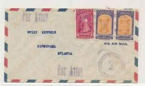 D174405 Panama Airmail Cover 1955 Blomedaal Netherlands