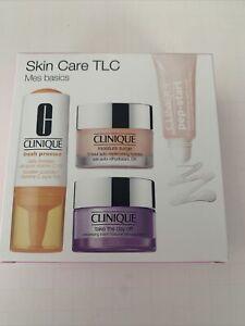 Clinique Skin Care TLC Mes Basic Kit Moisture Surge Pep Start Mask Booster Balm