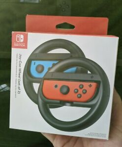 Nintendo Switch Joy Con Steering Wheel Official Accessory Pair of Gaming Wheels