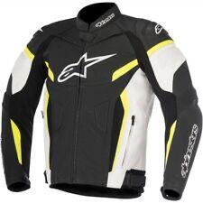 Alpinestars Mens Street GP Plus R V2 Leather Jacket 58 Black/white/yellow Fluo