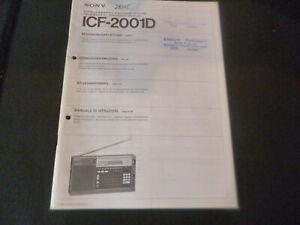 Original Bedienungsanleitung Sony ICF-2001D
