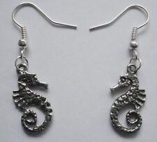 Earrings #2259 Pewter LITTLE SEAHORSE (20mm x 10mm)