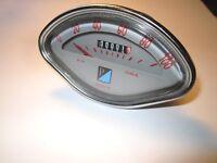 Vespa Muschel Tacho Tachometer Speedo 125 150 VBA VBB GL Sprint Veloce VN 100kmh