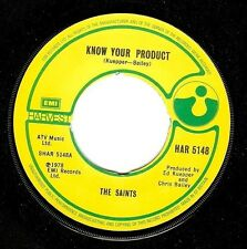 THE SAINTS Know Your Product Vinyl Record 7 Inch Harvest HAR 5148 1978