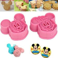 Mickey & Minnie Mouse Cookie Cutter Biscuit Embossed Cake Decoration Push Mold