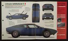 Lamborghini URRACO IMP Hot Cars Spec Sheet Folder Brochure RARE