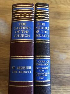 Fathers of the Church St. Augustine Vol. 45 & St. Cyril Vol. 64 -CATHOLIC CHURCH