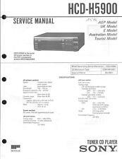 Sony Original Service Manual für HCD-H5900